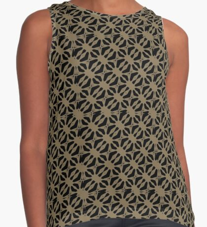 Pattern in Taupe by Julie Everhart Sleeveless Top