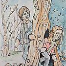 Nancy & Jonathan from Stranger Things by Byron  McBride