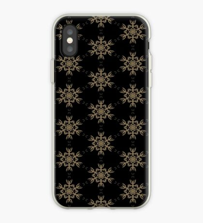 Black with Taupe Design by Julie Everhart iPhone Case