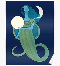 Moonlight Mermaid Poster