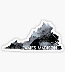 jmu va- black Sticker