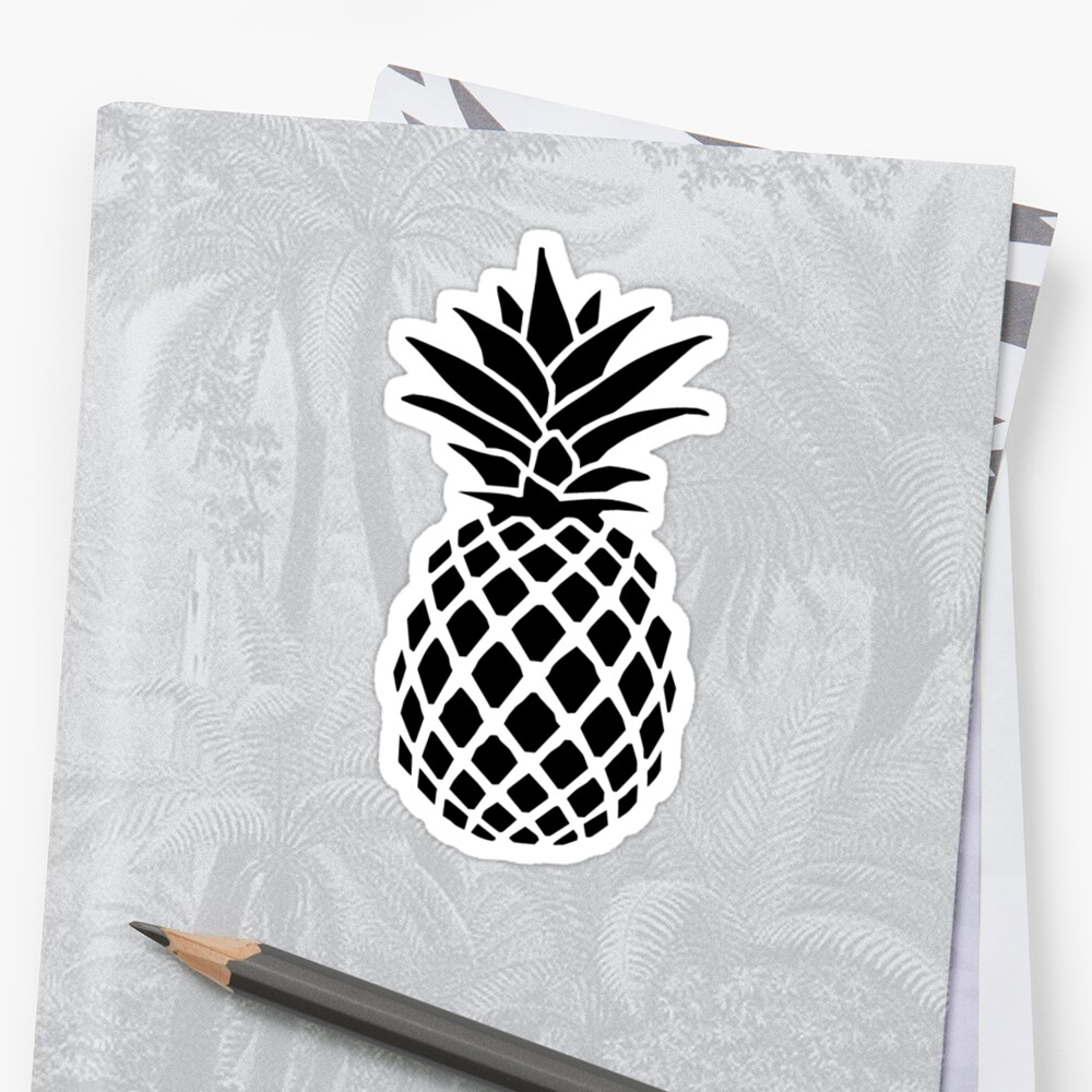 pineapple stickers by rosiesokoll redbubble. Black Bedroom Furniture Sets. Home Design Ideas