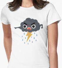 Grumpy Cloud Women's Fitted T-Shirt