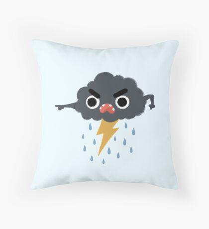 Grumpy Cloud Throw Pillow