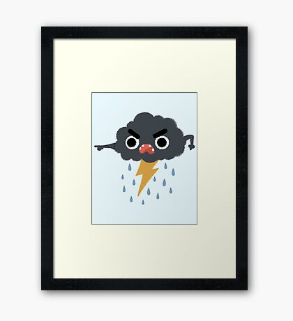 Grumpy Cloud Framed Print
