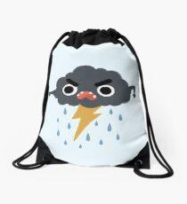 Grumpy Cloud Drawstring Bag