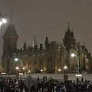 East Block - Parliament Hill, Ottawa, NY eve by Jim Cumming