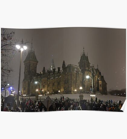 East Block - Parliament Hill, Ottawa, NY eve Poster