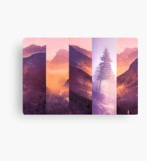 Mountains and Forest Trees - Purple Mountain Wildfire Smoke Tree Canvas Print