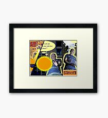 Comic Strip Panelling Framed Print