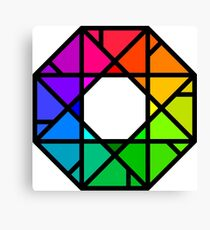 Stylized Colour Wheel Canvas Print