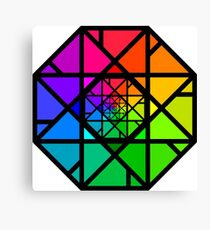 Stylized Colour Wheel Fractal Canvas Print