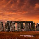 Stonehenge Sunset by John Wallace