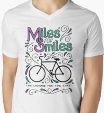 Miles for Smiles MS cycle team tshirt Men's V-Neck T-Shirt