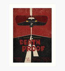 Death Proof Movie Poster Art Print