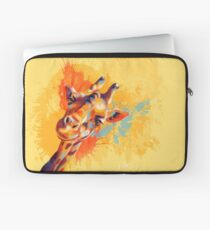Hello - Giraffe portrait, funny giraffe, animal illustration Laptop Sleeve