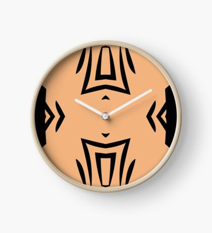 Peachy Tan with Black Stripes 2 by Julie Everhart Clock