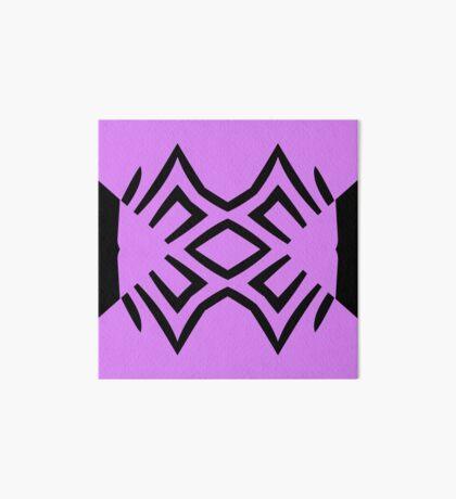 Lavender and Black Design by Julie Everhart Art Board Print