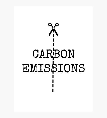 cut carbon emissions Photographic Print