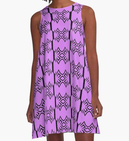 Lavender and Black Design by Julie Everhart A-Line Dress