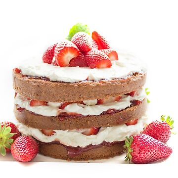 Strawberry Cream Cake by lollly