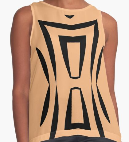 Peachy Tan with Black Stripes 2 by Julie Everhart Sleeveless Top