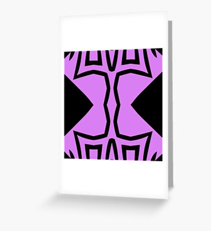 Lavender and Black Design 2 by Julie Everhart Greeting Card