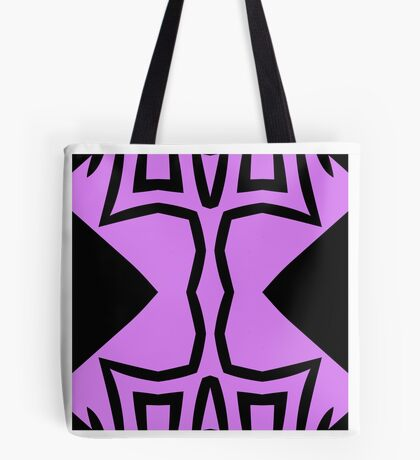 Lavender and Black Design 2 by Julie Everhart Tote Bag