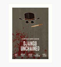 Django Unchained Filmplakat Kunstdruck
