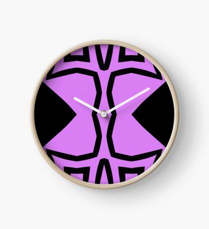Lavender and Black Design 2 by Julie Everhart Clock