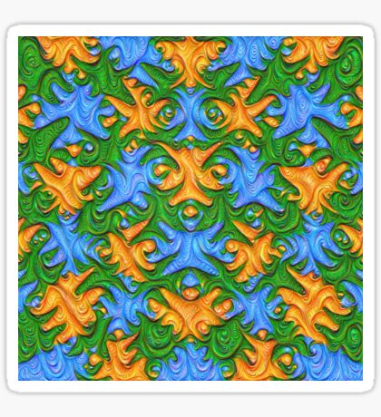Frozen chanterelles #DeepDream #Art Sticker