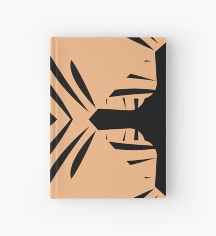 Peachy Tan with Black Stripes Hardcover Journal