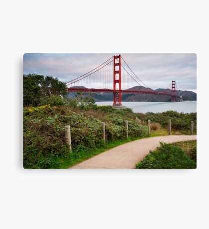 Walking to the Golden Gate Bridge - California Canvas Print