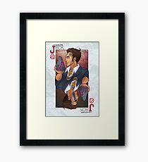 Handsome Jack card Framed Print