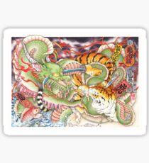 Tigers vs Dragons Sticker