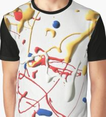 ABSTRACT MONDRIAN AND POLLOCK PAINT SPLATTER PATTERN Graphic T-Shirt