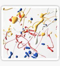 ABSTRACT MONDRIAN AND POLLOCK PAINT SPLATTER PATTERN Sticker