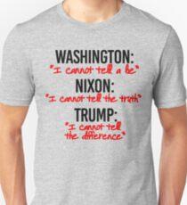 Washington Nixon Trump Unisex T-Shirt