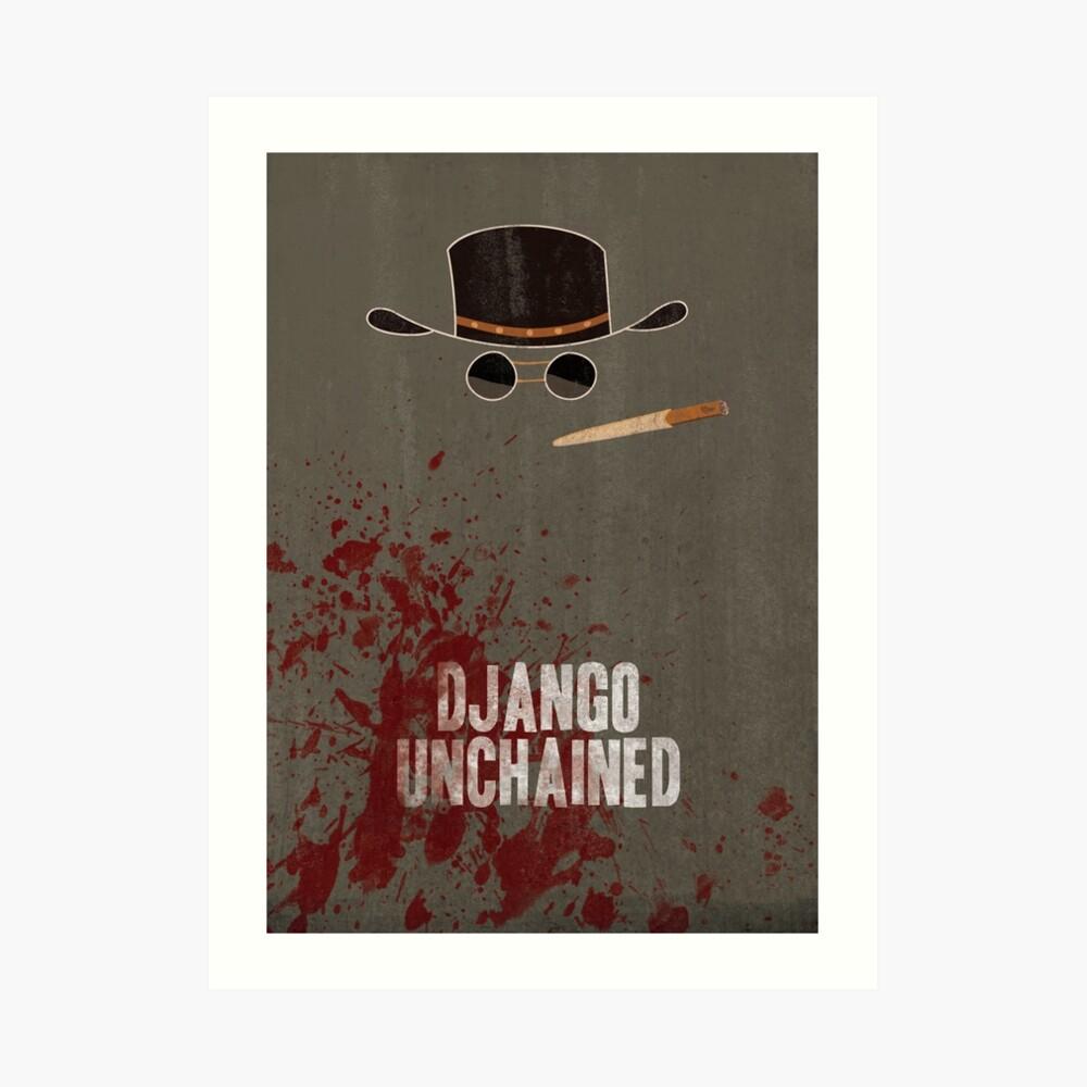 Django Unchained Filmplakat / Keine Titel / Kunstdruck