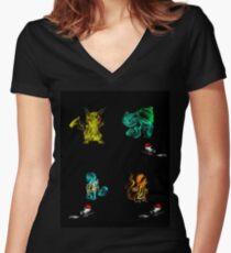 Camiseta entallada de cuello en V Pocket Ball 4