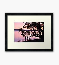 Sensational Sunset - New Zealand Framed Print
