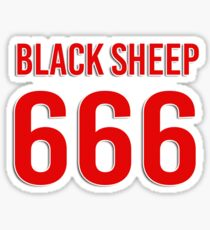 Black sheep 666 Sticker