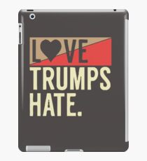 love trump hate.(white) iPad Case/Skin