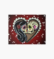 Ashes - Day of the Dead Couple - Sugar Skull Lovers Art Board