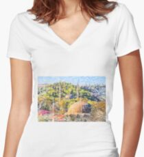 Eyup Mosque art 2 Women's Fitted V-Neck T-Shirt