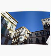 Beautiful buildings from the streets of Malaga, Spain  Poster