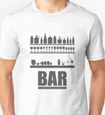 Bar Typography Cool Unisex T-Shirt