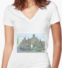 Horsforth Leeds Chinese Takeaway Women's Fitted V-Neck T-Shirt