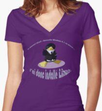 Linux VS Windows Women's Fitted V-Neck T-Shirt