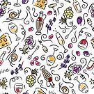 Wine pattern by Losenko  Mila